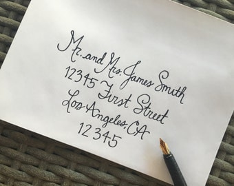 Custom Calligraphy Envelopes