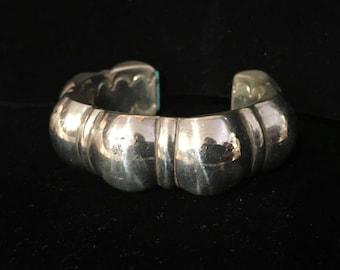 Navajo Sterilng Silver Cast Cuff