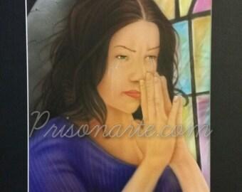 PA217  Prayer Woman-Artist Sean S
