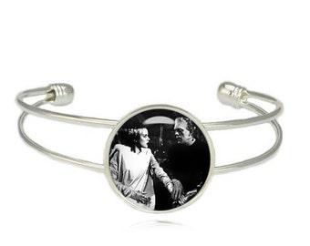 Frankenstein and his Bride Cuff Bangle Bracelet Fandom Jewelry Horror Jewelry Fangirl Fanboy