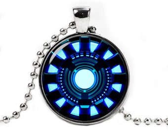 Arc Reactor Necklace Pendant Iron Man Necklace Fandom Jewelry Geeky Jewelry