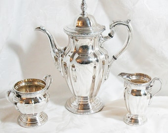 Vintage Reed and Barton Silver Plated Coffee Set