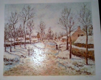 Lelia Pissarro The Four Seasons Winter Limited Edition Signed PRINT AP 9/30 wow