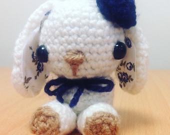 Crocheted White Flower Bunny