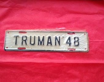 Vintage Truman ' 48 License Plate