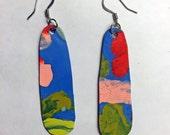 Dangle - Large One-of-A-Kind Handmade Paint Earrings