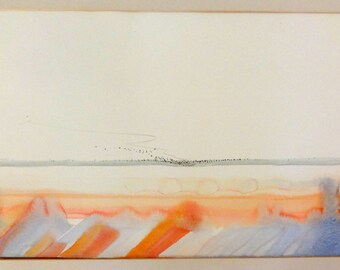 Vintage watercolor unsigned by Larry Smith - New Mexico