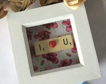I Love U Mini Frame