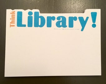 Think Library! notepad (new old stock)