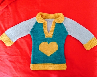Sweater with heart 0-3 months