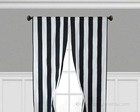 black stripe curtains vertical window treatments black and. Black Bedroom Furniture Sets. Home Design Ideas