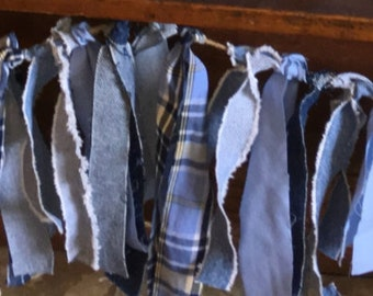 Denim rag Garland