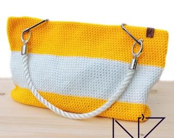 Yellow bag Beach bag Big bag tote Totes Crocket cover up bag Weekender bag Beach bag tote Hobo bag Large bag Boho bag Summer bag
