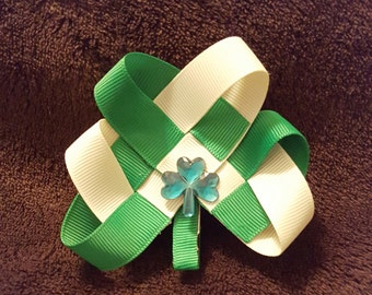 Shamrock St Patrick's Day hair clip