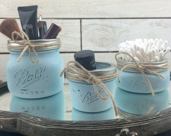 Mason Jar Set Of 3-Blue Mason Jars-Ball Mason Jars-