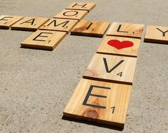 Home, Love, Family Wall Word Scramble
