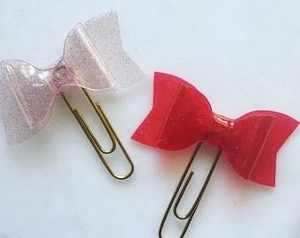 Glitter bow clips!