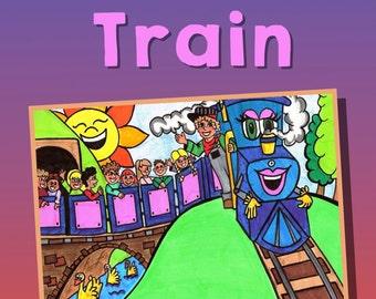 Children's Book Train Book Gifts For Children Kids Gifts For Kids Book Picture Books For Kids Railroad Book Locomotive Book Railway Book