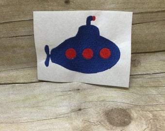 Submarine Embroidery Design