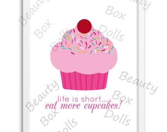 Instant Download, Cupcake Wall Art