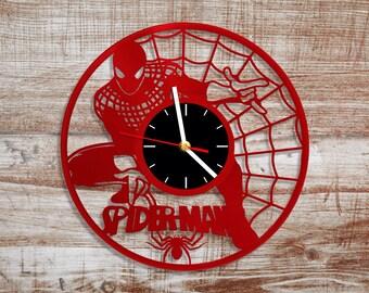 Spiderman Clock Etsy