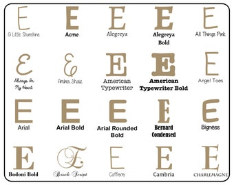 """Wooden Letter """"E"""" Capital  - Unfinished, Unpainted -- Perfect for Crafts, DIY, Nursery, Kids Rooms, Weddings (MDF)"""