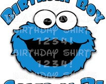 COOKIE MONSTER BIRTHDAY Shirt