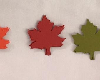 25 Die Cut Multi-Colored Leaves Autumn/Fall DC003