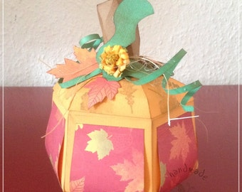 Autumn, pumpkin, decoration, gift wrap, paper