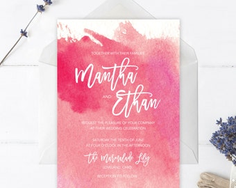 Printable Boho Watercolor Invitation