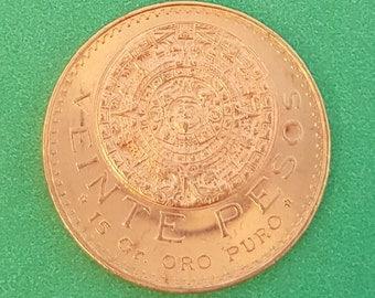 1959 Veinte Pesos Mexican Gold Coin