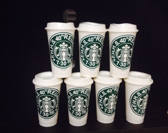 Personalized Starbucks cup available for all occasions .these genuine Starbucks cup are 16 oz.