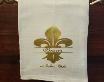Monogrammed decorative towel
