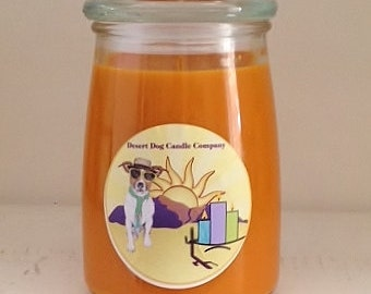 24 oz Soy Wax Glass Container Candle