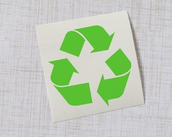 Recycling Vinyl Decal, Recycling Symbol Sticker