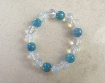 Opalite and Dyed Blue Agate