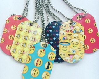 Emoji Dog Tags, devil, angel