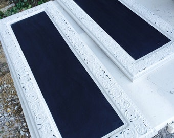 Shabby framed chalkboards