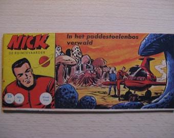An old Lilliput comic book: Nick the astronaut, In the paddestoelenbos verwald ... 1961