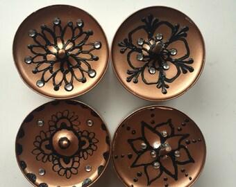 Bronze Henna/Mendhi Tealights x18