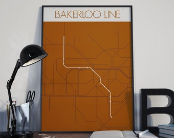 London Underground Bakerloo Line Route Tube Map