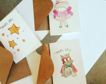 Pack of 6 thank you cards