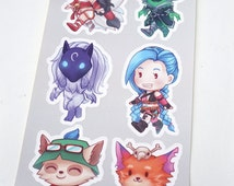League of Legends Kiss Cut Sticker Sheet