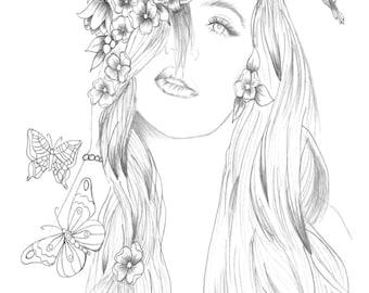 Khloe Kardashian Drawing By Lisa Brando