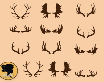 Deer Silhouette, Deer Antler svg, Screen Printing, Craft, Instant DownloadS,Format for Cricut and Silhouette