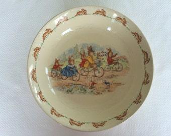 Bunnikins vintage cereal bowl