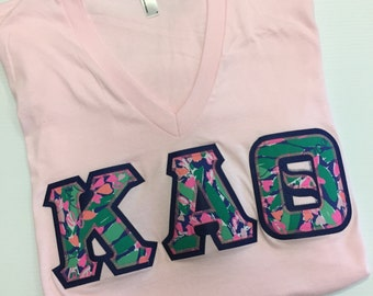 Light Pink Lilly letter shirt