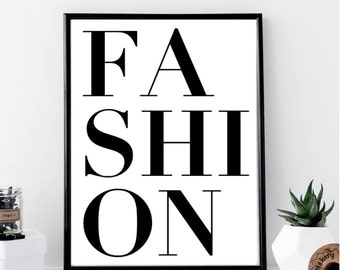 Fashion Print // Minimalist Poster // Wall Art Print // Typography // Fashion // Scandinavian Poster // Boho // Modern Office