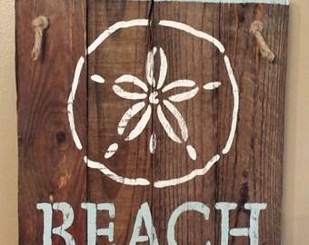 Beach sign. Wood beach sign. Beach. Summer sign