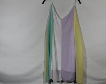 Pastel multicolor dress size S